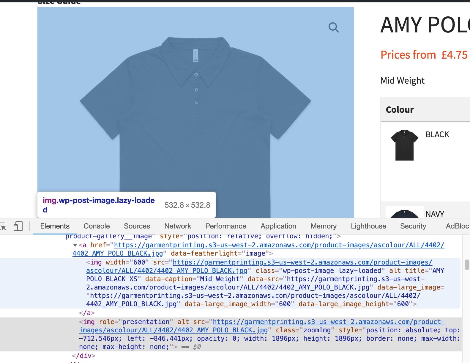 Main product image not getting served via jetpack CDN