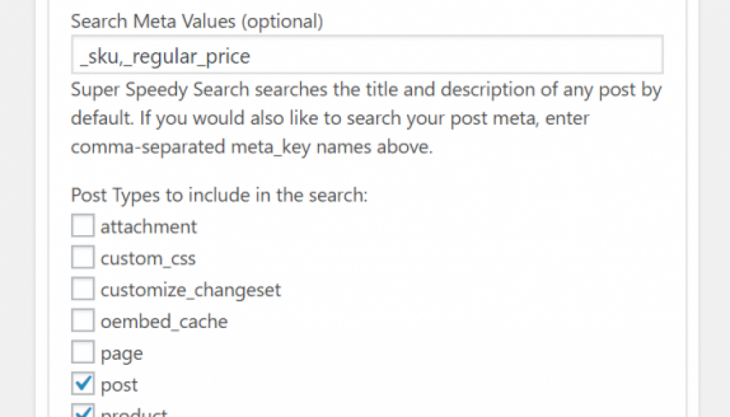 Relevancy Options added to Super Speedy Search plugin